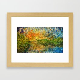 Explosions of Lake and Sky by Joel A Conner Framed Art Print