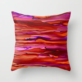 Sunset on the Waves Throw Pillow