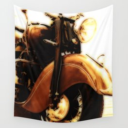Motorcycle-Sepia-Poster Wall Tapestry