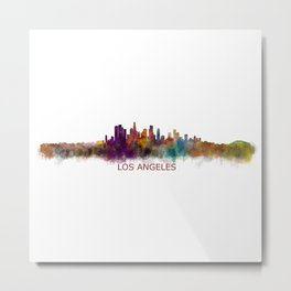 Los Angeles City Skyline HQ v2 Metal Print