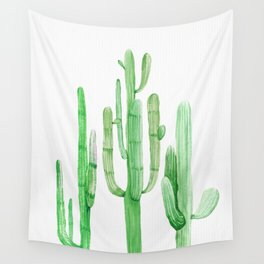 Three Amigos Cacti Green Wall Tapestry