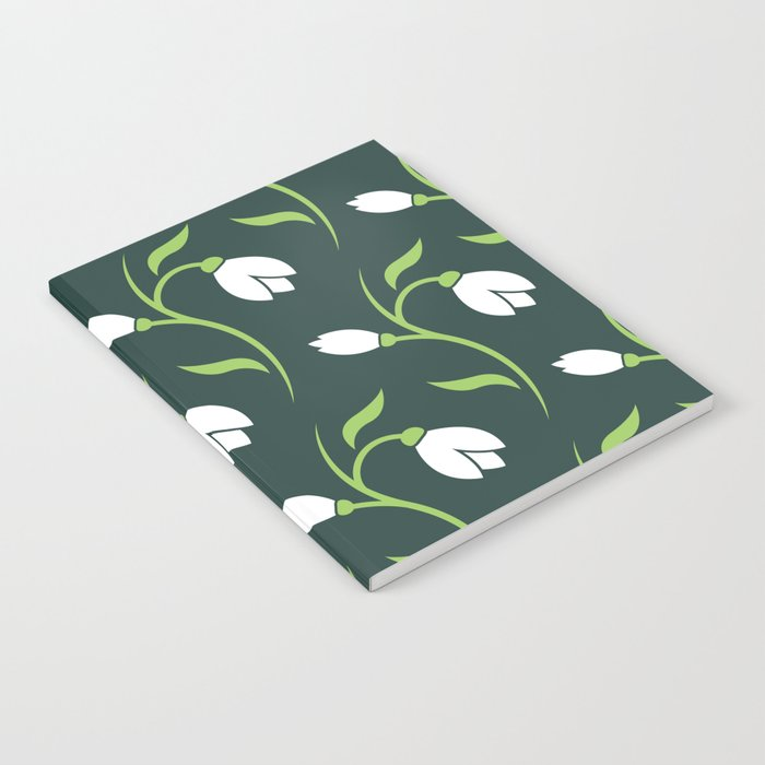 Spring Snowdrop Pattern Notebook
