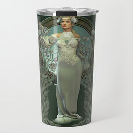 Art Nouveau White Lady Travel Mug