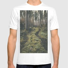 explore - Landscape Photography White Mens Fitted Tee MEDIUM