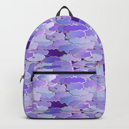 Japanese Clouds, Twilight, Violet and Deep Purple Backpack