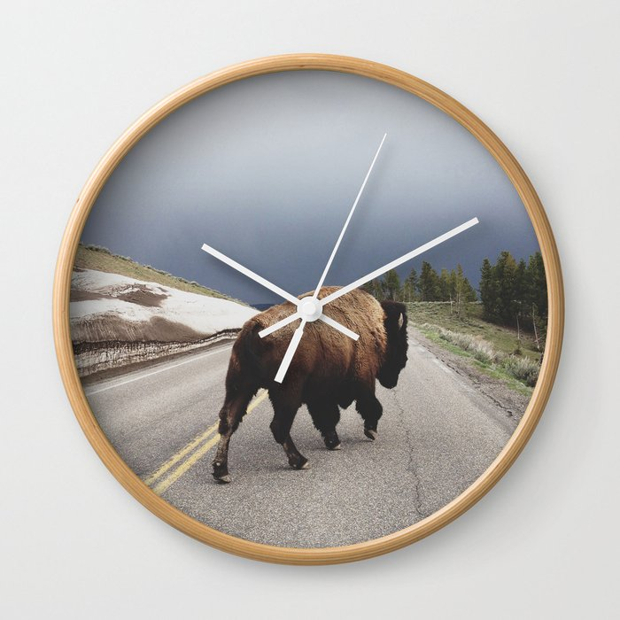 Street Walker Wall Clock