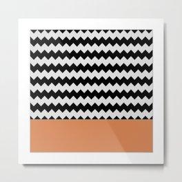 0003 Chevron Metal Print