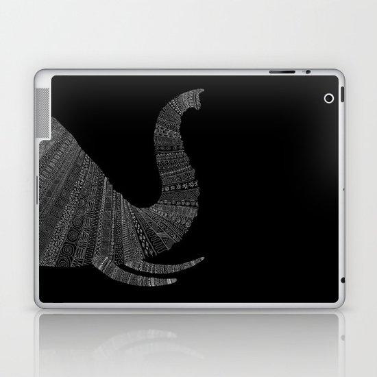 Elephant (On Black) Laptop & iPad Skin