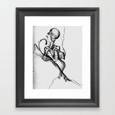 Lady Profile Framed Art Print