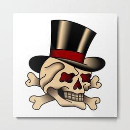 Classy Skull Metal Print