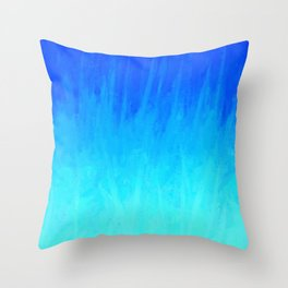 Icy Blue Blast Throw Pillow