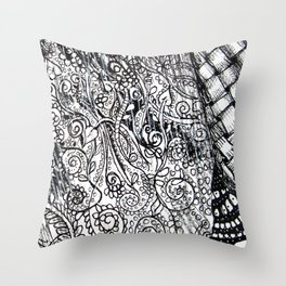 Black and White Design 2 Throw Pillow