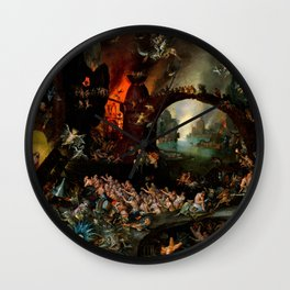 "Jan Brueghel The Elder ""Christ in Limbo"" (Riggisberg 1593) Wall Clock"