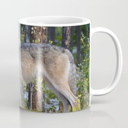 Wolf encounter in Jasper National Park Coffee Mug
