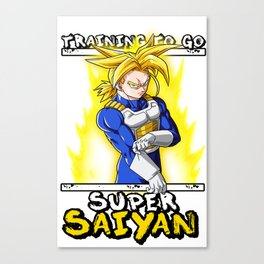 Training to go super saiyan - Trunks Canvas Print