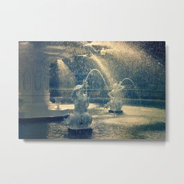 Savannah Forsyth Fountain Metal Print