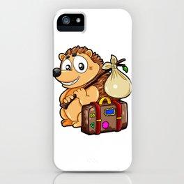 Traveling Hedgehog Luggage Baggage Globetrotter iPhone Case