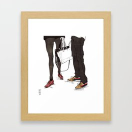 Mismatched, But Not Incompatible by Kat Mills Framed Art Print