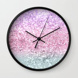 Unicorn Girls Glitter #7a #shiny #pastel #decor #art #society6 Wall Clock