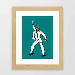 Saturday Night Cyberman Framed Art Print