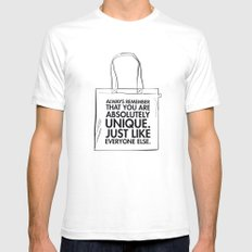 UNIQUE SMALL White Mens Fitted Tee
