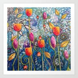 Flowers flow Art Print