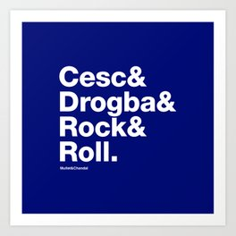 Cesc & Drogba & Rock & Roll (Chelsea) Art Print