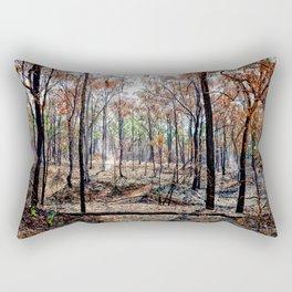 Fire damaged forest Rectangular Pillow