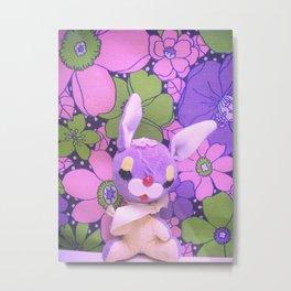 Bashful Bunny Metal Print
