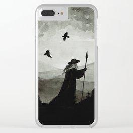 Odin, Huginn and Muninn. Clear iPhone Case