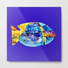 Fish V ( The sun on the waves of the sea ) Metal Print