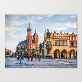 Cracow Main Square art Canvas Print