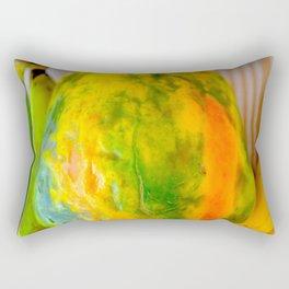 Fruit design with luscious papaya Rectangular Pillow