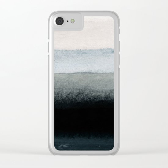 shades of grey Clear iPhone Case