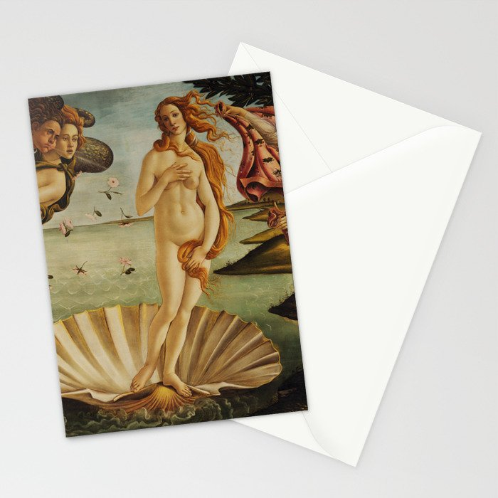 The Birth of Venus by Sandro Botticelli Stationery Cards
