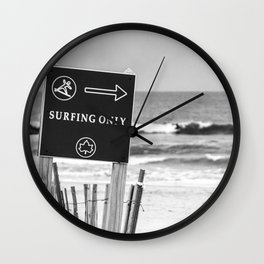 Surfing Only Wall Clock