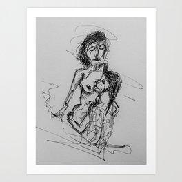blurry love Art Print