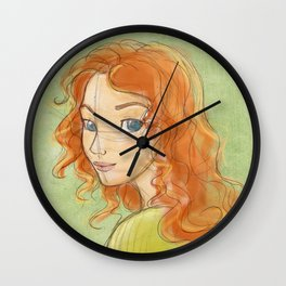 Colored Portrait Wall Clock