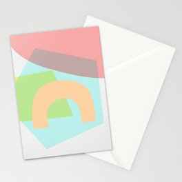 Sunny Side - Abstract Geometric Light Pastel Stationery Cards