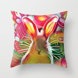 Stalker Rabbit Throw Pillow