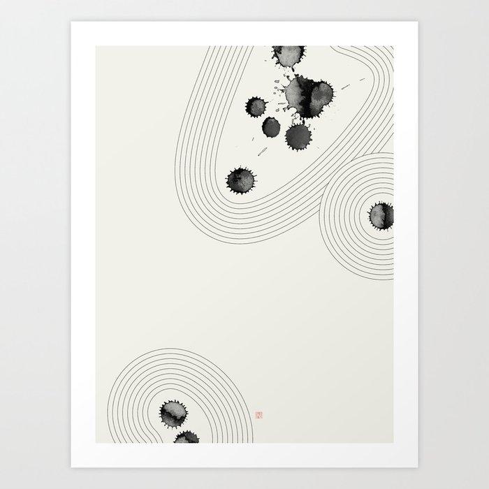 Accidental Zen Garden n°3 (West Meets East Series) Art Print
