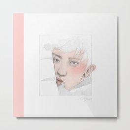 Pink Yeoli Metal Print