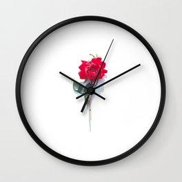 Singular Rose Wall Clock
