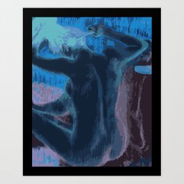 Woman Combing Her Hair - Degas - Vector Series Art Print