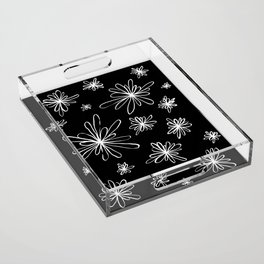 Energy Flowers Reverse Acrylic Tray