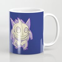 gengar Mugs featuring Pocket Man Anatomy #94 Gengar by jazzmoth