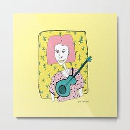 Julia. Musician Woman Metal Print