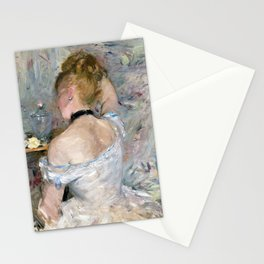 12,000pixel-500dpi - Berthe Morisot - Woman at Her Toilette - Digital Remastered Edition Stationery Cards