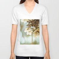 hydrangea V-neck T-shirts featuring hydrangea by Bonnie Jakobsen-Martin