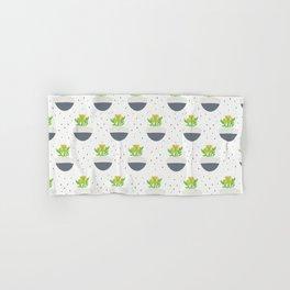 Potted Kalanchoe Plant Mom Pattern Hand & Bath Towel